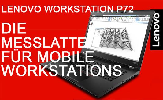 Lenovo Mobile Workstation P72 - konfigurierbar und ISV