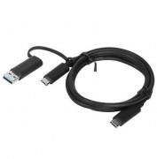 Lenovo USB-C Anschlusskabel 1m inkl. USB-A Adapter #4X90U90618 Campus